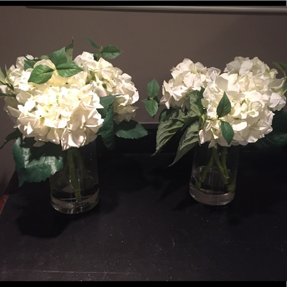 Pottery Barn Other Faux Hydrangeas In Vases Poshmark